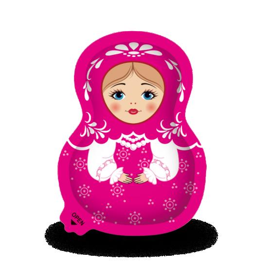"""Матрешка с сюрпризом """"Pretty Doll"""" с шоколадной пастой и бисквитами"""