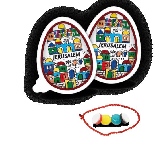 """""""Happy Surprise"""" JERUSALEM с красной ниткой и вкусной карамелью  на успех и удачу"""