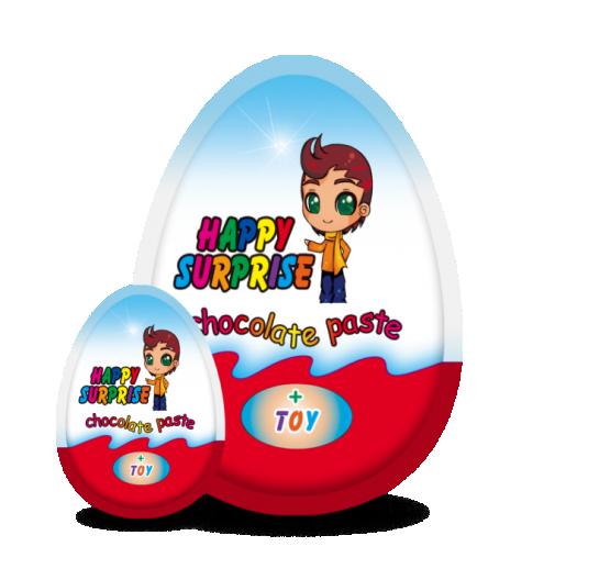 """Яйцо с сюрпризом для мальчиков и девочек (микс) """"HAPPY SURPRISE"""" Премиум"""