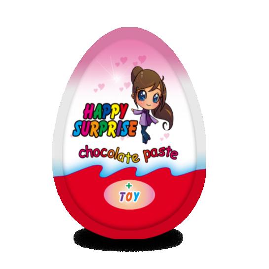 """Яйцо с сюрпризом для девочек """"HAPPY SURPRISE"""" Премиум"""